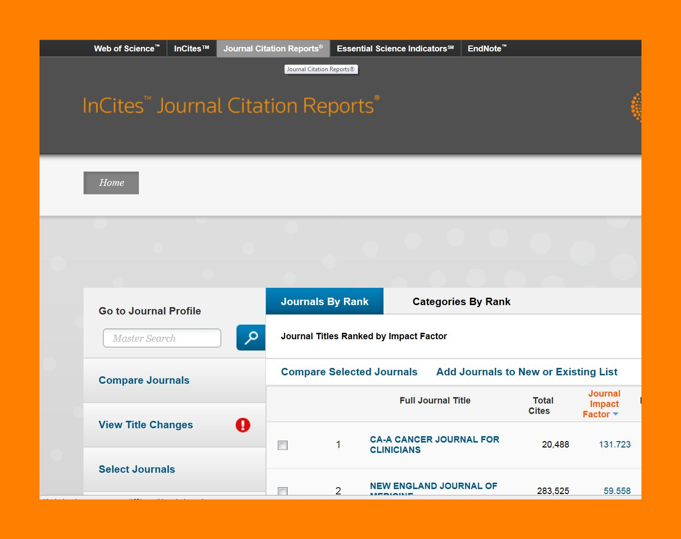 How Can I Find Impact Factors In Journal Citation Reports Wur
