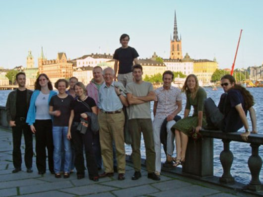 Last time's participants on the terrace of Stockholm's City hall