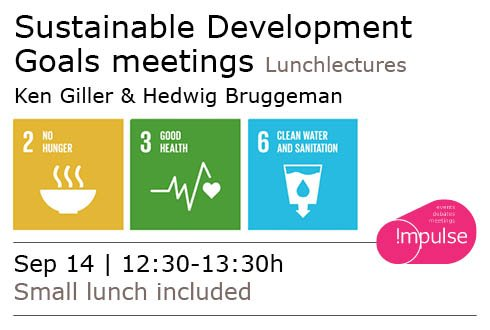 SDG@WUR: Transforming our world: the 2030 Agenda for Sustainable Development
