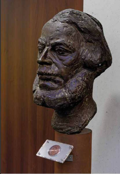 Bronze bust, 1968. To be seen in the Atlas Building