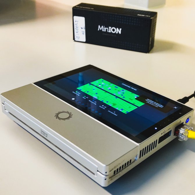 Oxford Nanopore sequencing machine (MinION).