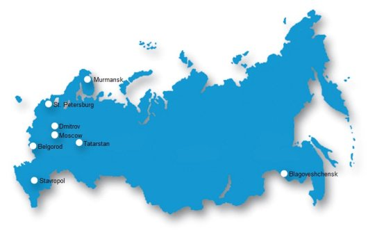 Map of Russia projects