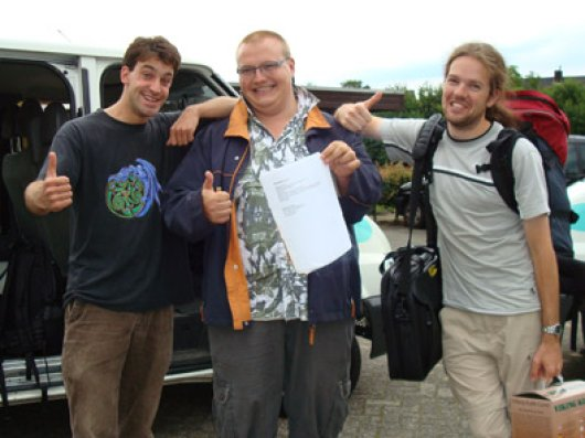 The organizing committee 2007: Wiebe, Joris and Bas