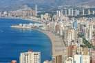 Benidorm, a tourism hotspot on the semi-arid Costa Blanca in Spain