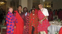 During Gala dinner with people from Wageningen University (second on the left ir. Soutrik Basu)