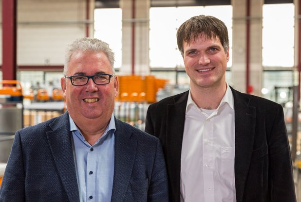Bas Lagerwerf of Berg Hortimotive and Andreas Hofland of HortiKey