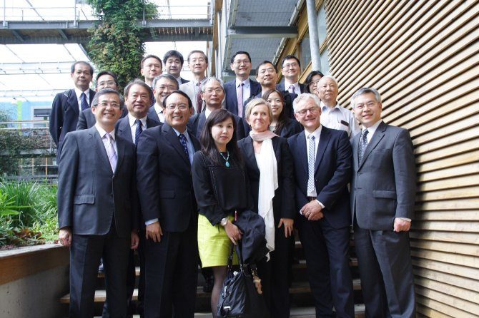 The delegation of the Department of Technological and Vocational Education Ministry of Education in Taiwan