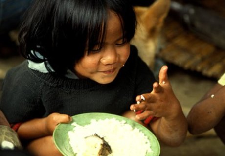 Hungry people suffering from undernutrition that covers the course Rights-Based Approach to Food and Nutrition Security