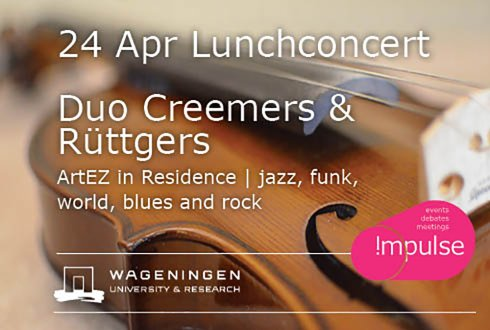 Lunchconcert Duo Creemers & Rüttgers - ArtEZ in Residence