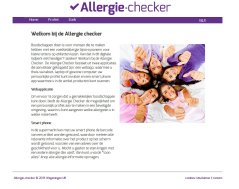 Homepage allergie-checker