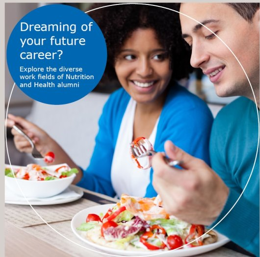 Read the career booklet Nutrition and Health