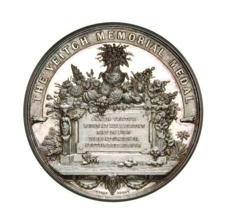 The Veitch Memorial Medal, awarded to John Bergmans in 1974 by the Royal Horticultural Society