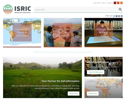 Screenshot new ISRIC front page.jpg