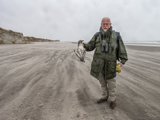 After his retirement Jan hopes to have more time to go into the field surveying beaches