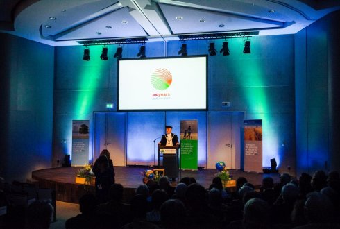 Unveiling Anniversary logo and  theme 100 years WUR 2018