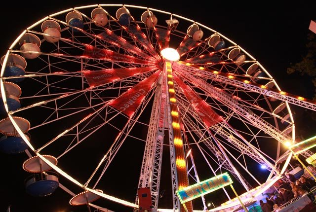 Ferris wheel at the fair in Wageningen