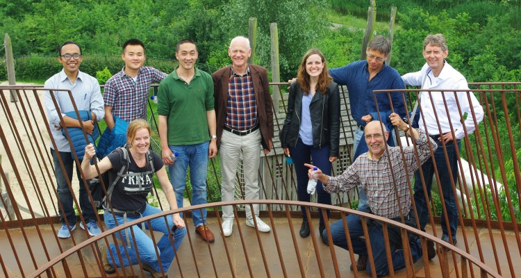 PhD students (back, from left): Gede, Yang, Zinan and Kim (4th from left) with some of the LUP teachers