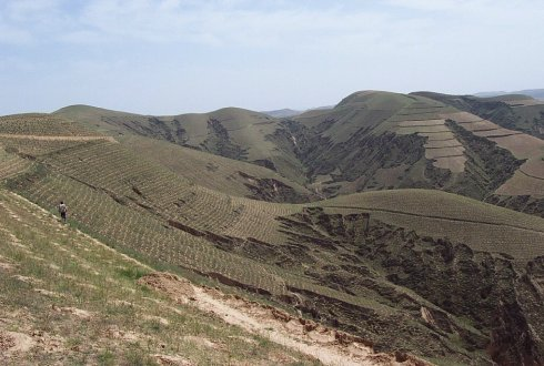 Loess Plateau China before restoration