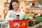 Mobiele app communicatie supermarkt