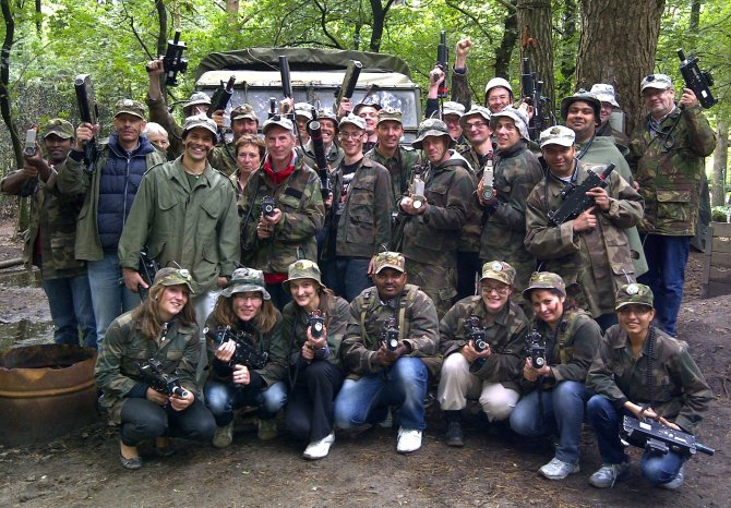 Lasergaming in the forest near Lunteren