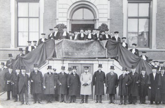 Opening Agricultural University of Applied Science, 9th of march 1918, with prince Hendrik