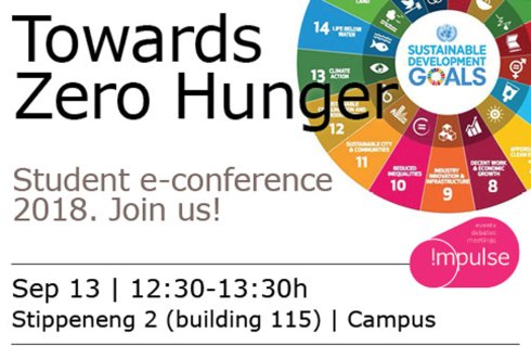Lunchlecture: Towards Zero Hunger, student e-conference 2018