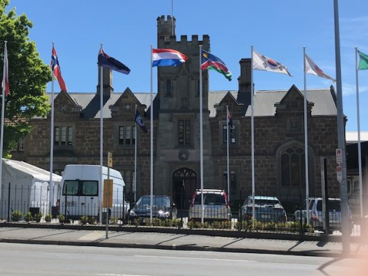 The Dutch flag is now also waving in front of CCAMLR's headquarters.