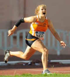 Javelin thrower Evelien Dekkers