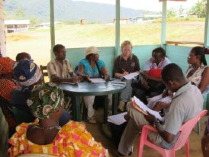 Focus group discussions with women in the village of Engong Evinayong
