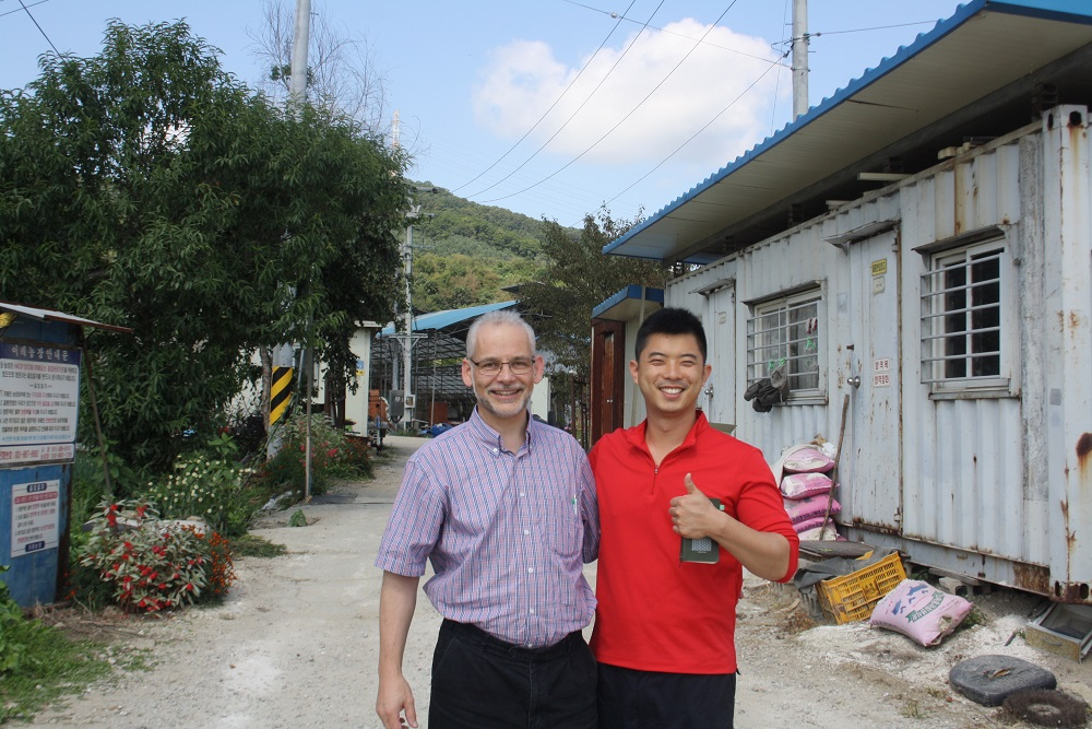 Meeting with Mr. Jung-dae Lee, farm owner in South Korea.