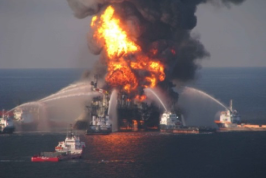 Deepwater Horizon oil spill in the Gulf of Mexico.
