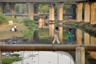 Producing clean water from urban sewage streams in India