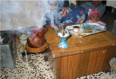 Frankincense used at coffee ceremony, Asmara, Eritrea. (© Frans Bongers)