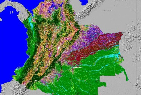 Land cover characterization for Colombia at 25m resolution using radar RS data. Source: Marcela Quiñones at http://sarvision.nl/