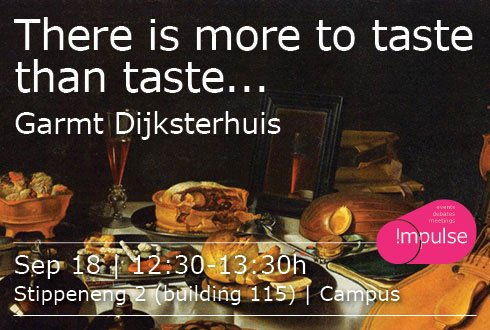 Lunchlecture: There is more to taste than taste...