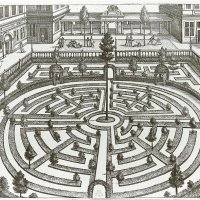 Maze. Drawing by Vredeman de Vries, approx. 1580-1590