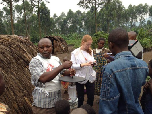 "Jeanine Loonen places malaria mosquito traps with Doctors without borders (MSF) in the Democratic Republic of Congo.<L CODE=""C05""> Read more</L>"