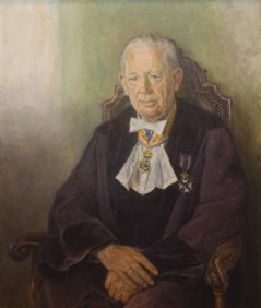 Prof E.W. Hofstee, painting by Theo van Delft Jansz, 1980.