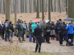 The excursion to Het Loo Crownlands forest started off with a spatter of rain, but the skies cleared after 10 minutes.