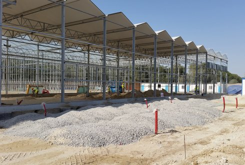 Progress of the construction of research centre in the Middle East