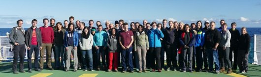Researchers from 11 different countries on board RV Polarstern, ready for the TRANSSIZ expedition (photo by Ilias Nasis)