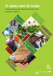 It takes two to trade: understanding and improving farmer-firm relations in Africa
