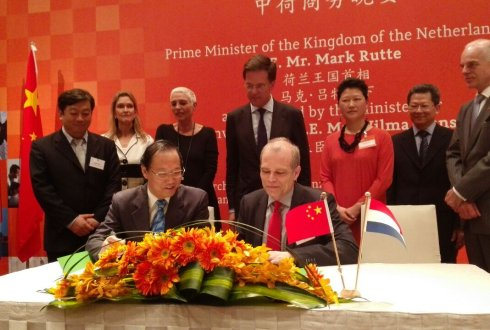 Wageningen UR signed contracts in China during trade mission Prime Minister Rutte