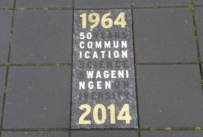 Stone 50 years Communication Science Wageningen University