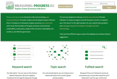New web tool for identifying Green Economy indicators