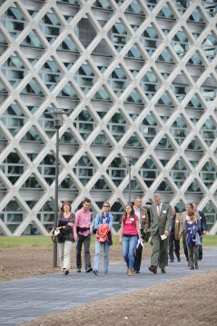 Wandeling over de campus