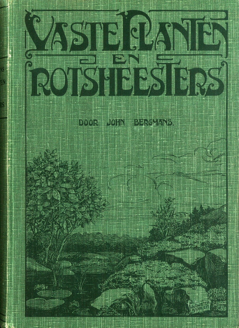 Book cover of Bergmans' most important book Vaste Planten en Rotsheesters, Haarlem, 1924