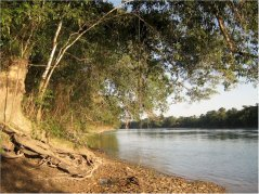 'Rio Lacantun' separating the conserved forest area from the anthropogenic landscape