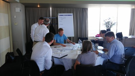 In a well-attended workshop in IJmuiden, on the 19th and 20th of June, with over 20 participants, the  first results of the SOMOS project were presented to external experts and representatives of organisations interested in safety aspects of multi-use offshore, such as the Alfred Wegener Institute (AWI, Bremerhaven), Allseas, Chris Westra Consulting, Lloyd's Register Group, the Maritime Institute (Gdansk), NoordzeeBoerderij,  Rijkswaterstaat, Shell/NoordzeeWind.