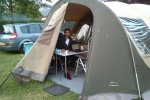 Arnold van Vliet - 21:54 (Site) - Travelling through Europe together with the family with the tent as our office. Wonderful way to visit international organisations to discuss possibilities for cooperation. We work mainly in the evenings when the kids are sleeping.